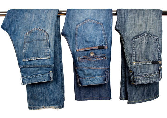 How to turn blue jeans green
